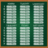 School Schedule Royalty Free Stock Photos