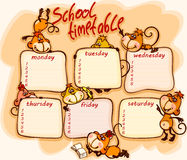 School schedule. For 2016  with the  monkey Stock Photography