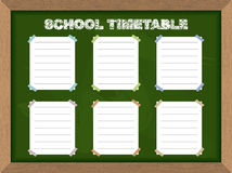 School schedule. School Timetable stickers on Blackboard. Vector Royalty Free Stock Photo