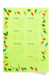 School schedule for the week Royalty Free Stock Photos