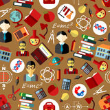 School and science seamless pattern background Stock Photos