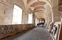 School of sculptors, restoration of sculptures, workshop repair depot Royalty Free Stock Image