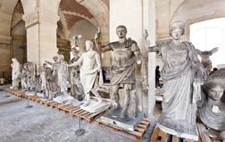 School of sculptors, restoration of sculptures, workshop repair depot Stock Images