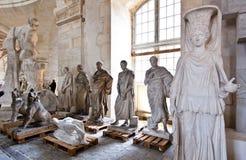 School of sculptors, restoration of sculptures, workshop repair depot Royalty Free Stock Photo
