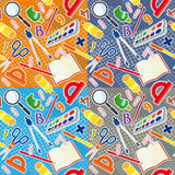 School seamless background. Set of four seamless backgrounds to school theme Royalty Free Stock Photos