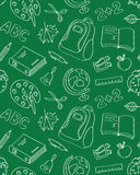 School seamless pattern Royalty Free Stock Image