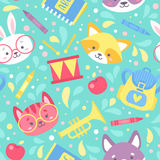 School seamless pattern for children Vector Illustration