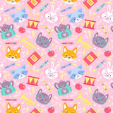 School seamless pattern for children Royalty Free Stock Photography