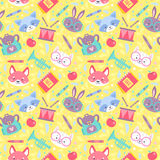 School seamless pattern for children Stock Images