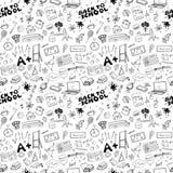 School seamless pattern HandDrawn Doodles, Vector Illustration Stock Photo