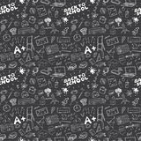 School seamless pattern HandDrawn Doodles, Vector Illustration Royalty Free Stock Photography