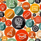 School seamless pattern illustration Royalty Free Stock Photos