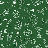 School seamless pattern Stock Photos