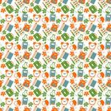 School seamless pattern Stock Photos