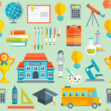 School Seamless Pattern Stock Images