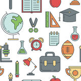 School seamless pattern Royalty Free Stock Photo