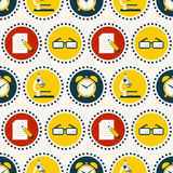 School seamless pattern. Vector background. Stock Photo