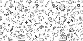 School seamless vector Stock Photo