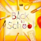 School season invitation template. EPS 10 Royalty Free Stock Photography