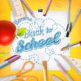 School season invitation template. EPS 10 Stock Images