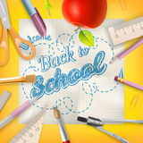 School season invitation template. EPS 10 Stock Photography