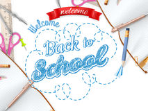 School season invitation template. EPS 10 Stock Photography