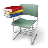 School seat. School chair with books (3d illustration Stock Images
