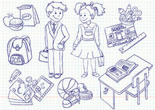 School set. Education ( school) doodles set, illustration Royalty Free Illustration