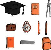 School set. Drawing by hand. Vector. vector illustration