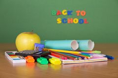 School set for the letter and drawing Stock Photo