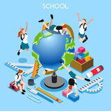 School Set 02 People Isometric Stock Photography