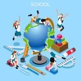 School Set 02 People Isometric Stock Photography
