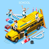 School Set 06 People Isometric Stock Photo