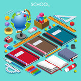 School Set 07 People Isometric Royalty Free Stock Photo