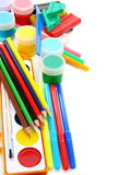 School set for sculpting and painting. Stock Images