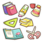 School set. set of different school items Royalty Free Stock Image