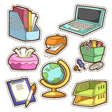 School set. set of different school items Royalty Free Stock Images