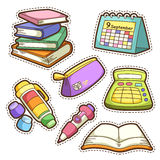School set. set of different school items Stock Images