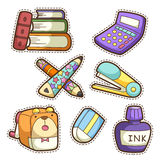 School set. set of different school items Stock Photo