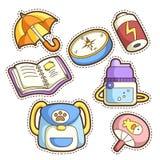 School set. set of different school items Stock Images