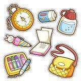 School set. set of different school items Stock Image