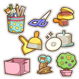 School set. set of different school items Royalty Free Stock Image