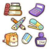 School Set. Set Of Different School Items Stock Photo