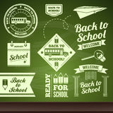 School set. Vector Back to school set of labels Royalty Free Stock Images