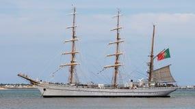 School ship sagres. Portuguese navy school ship sagres Stock Images