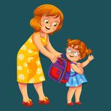 School Shopping Colorful Poster Stock Images