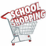 School Shopping 3d Words Cart Comparing Best Education College U Royalty Free Stock Image