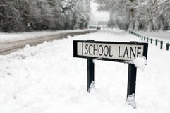 School sign Royalty Free Stock Image