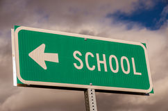 School Sign Stock Image