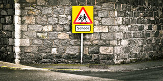 School sign Stock Photos